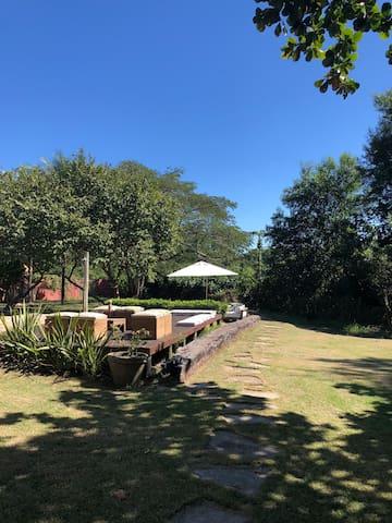Linda casa de praia na reserva de jacarenema