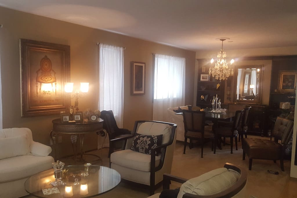 Living room and dining room for your pleasure.