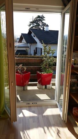 Chambre ensoleillée avec balcon - Courtételle - House