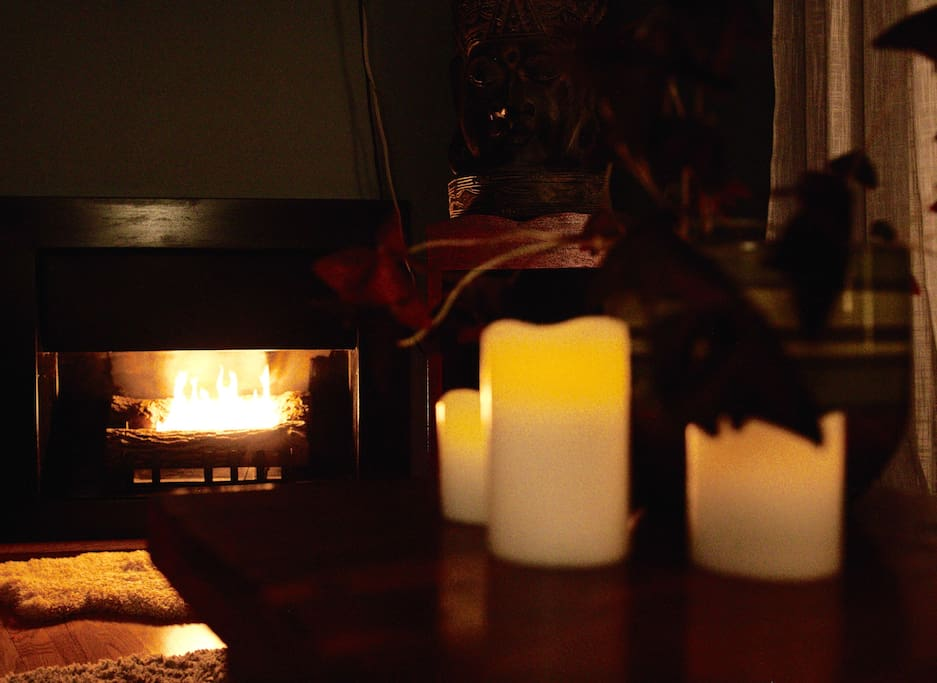 Electronic candles on a timer will automatically create ambiance once the sun goes down