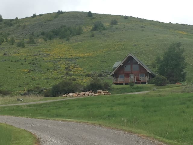 Room in log home with mountain views - Richmond - Hus