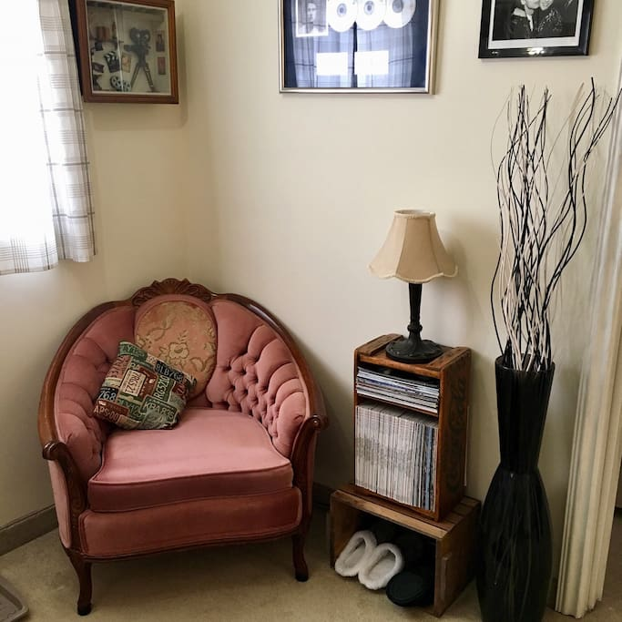 Have a seat and chill.  A great reading corner.