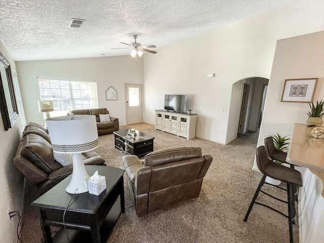 Large Living Room with TV