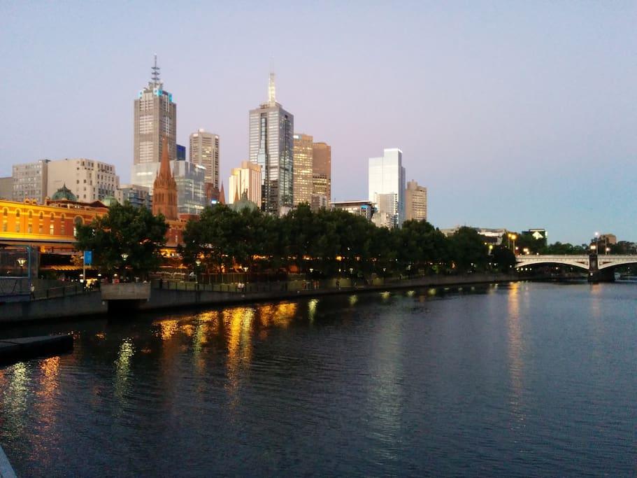 Beautiful Melbourne - right in the CBD.