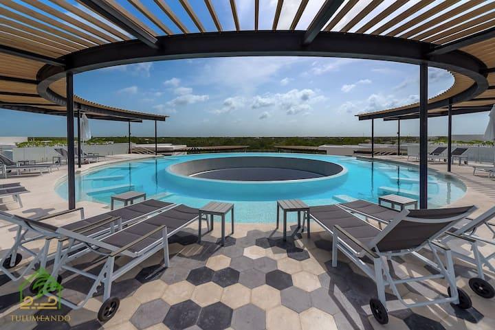 Ideal descanso para 2: WIFI+Gym+Pool+Smart TV !