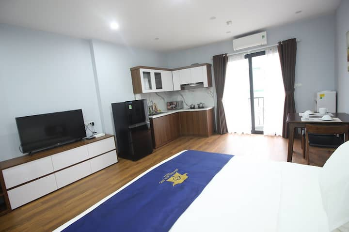 [BS4]❀Deluxe Studio❤Kitchen❀Near Airport