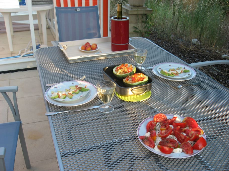 Lunches 'al fresco' on one of the terraces