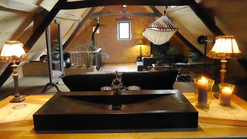 Loft de charme dans maison périgourdine - Sarlat-la-Canéda - Çatı Katı
