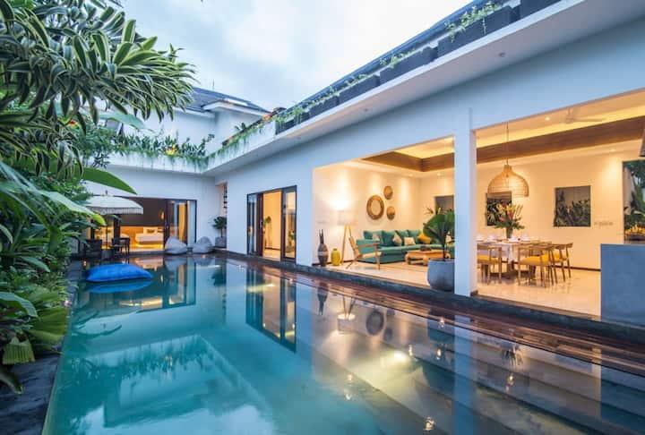 Frangipani Jingga 3 bedr villa 600m Finn's & Beach