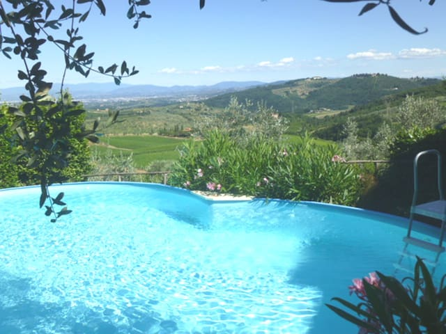IN THE HOUSE OF A PAINTER IN TUSCANY NEAR FLORENCE - Carmignano - Apartamento