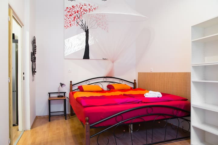 You will get best sleep in this comfy kingsize double bed in bedroom no. 3