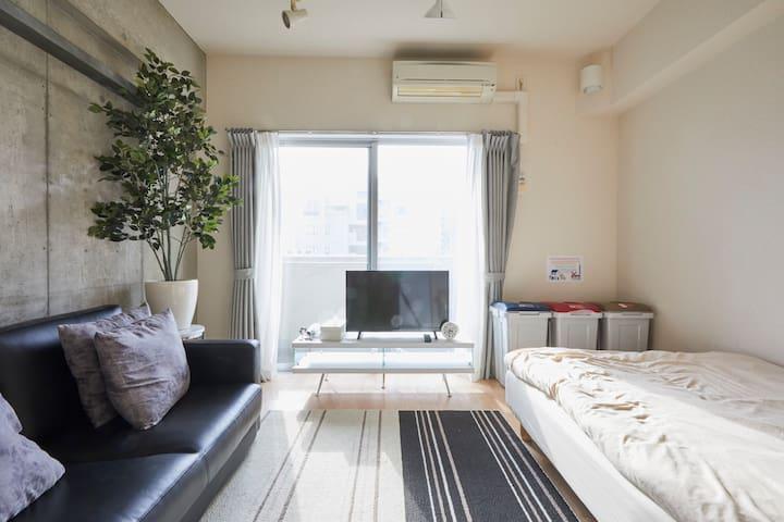 Lovely StudioApt nrSTA Easy>Ginza&Roppongi WiFi+TV - Minato-ku - Appartement