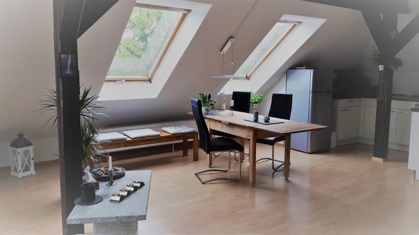 Gemütliches Apartment im Dachgeschoss // Rooftop - Dresden - Apartamento