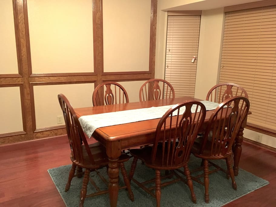 dining room fits 6, great for nightly family dining ritual