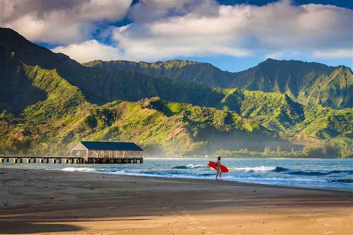 "Princeville getaway ""surf retreat"""