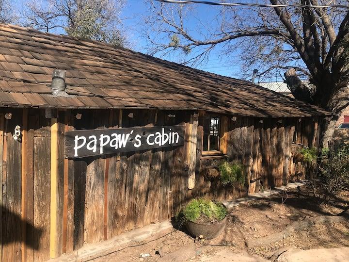 Papaw's Cabin, a hand-built 1930's log cabin