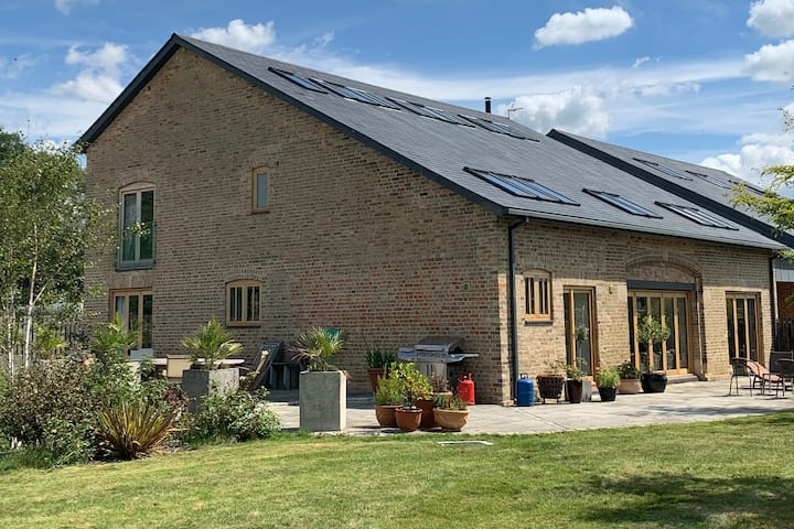 Huge modern barn conversion Cambridge countryside