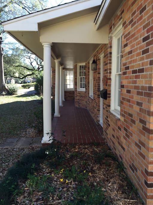 Comfy cottage front porch