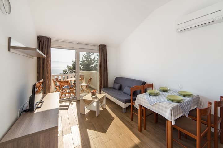 Apartments Sunrise - One Bedroom Apartment with Balcony and Sea View 1