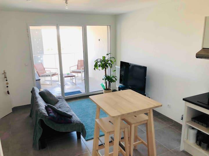 Appartement neuf avec terrasse à Port Marianne