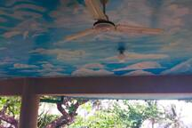 Cloud painted ceiling at the Balcony