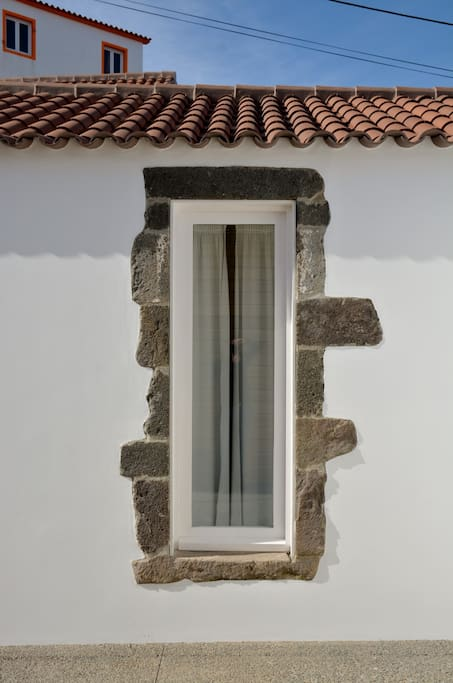 Window with original stone decoration