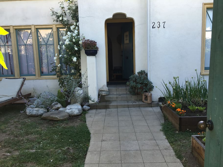 Entrance to house from front gate/entrance to garden.