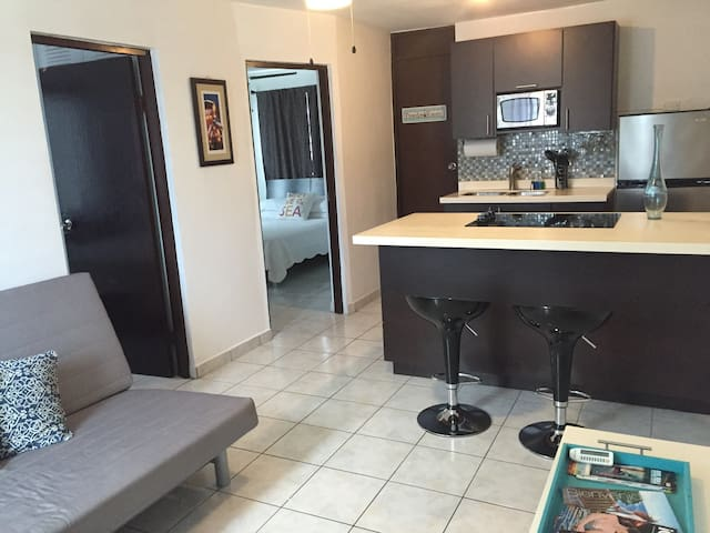 Chic 2br for 6/Steps Beach & Airprt - Carolina - Daire