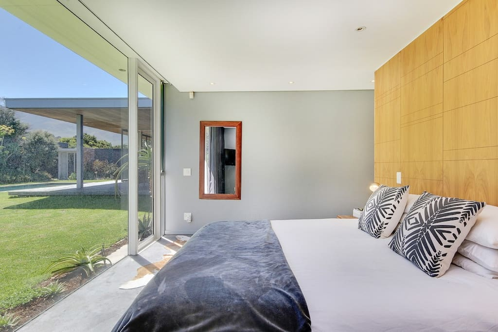 main bedroom with access to garden