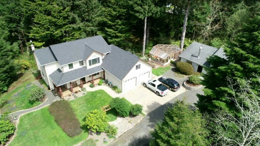 Aerial view of Home and Guest House