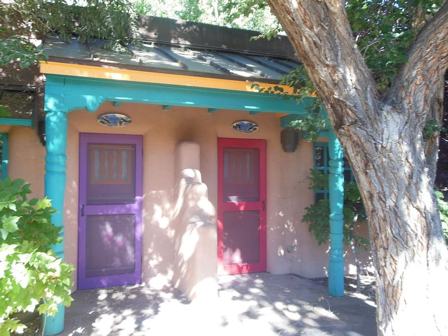 Casita A and B can be combined into a two bedroom unit.