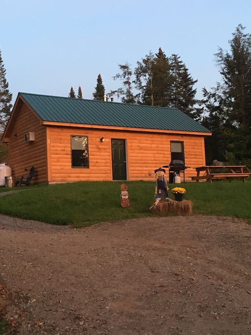 Cabin 3 in the glow of the sun.