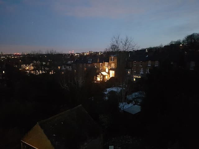 View from Bedroom Window at Night