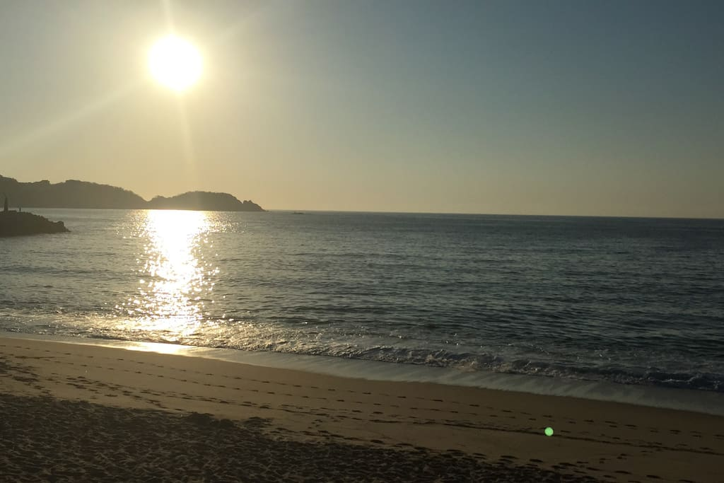 Atardecer de la playa Chahué