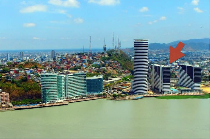 Guayas river view | Floor 14 |  pool, jacuzzi, gym - Guayaquil - Lägenhet