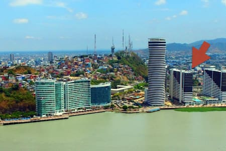 Guayas river view | Floor 14 |  pool, jacuzzi, gym - Guayaquil - Apartmen
