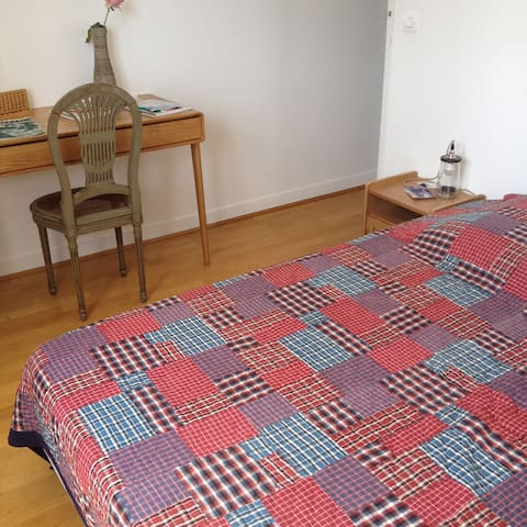 Room in a 96m2 flat in Paris 19e - Paris - Gjestehus
