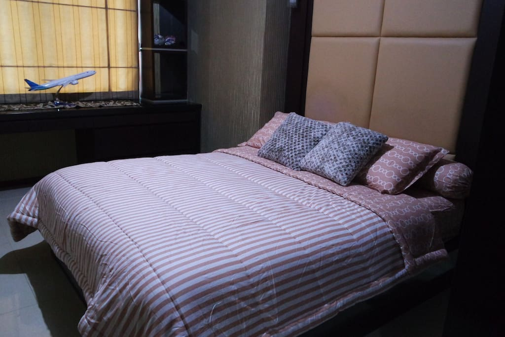 Master bedroom for 2 with air conditioner