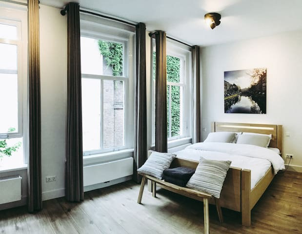 Windows and bed