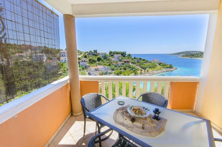 Apartman s dvije sobe, na plaži, Sevid, Terasa