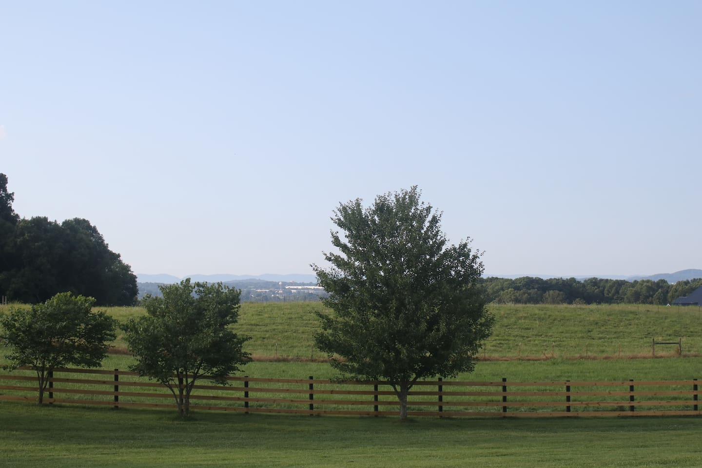 Back porch view of Morristown, TN