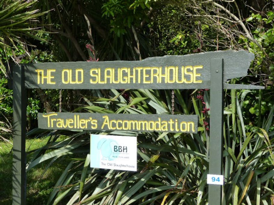 The Old Slaughterhouse - road sign