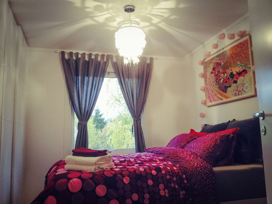 Sunny bedroom in the day