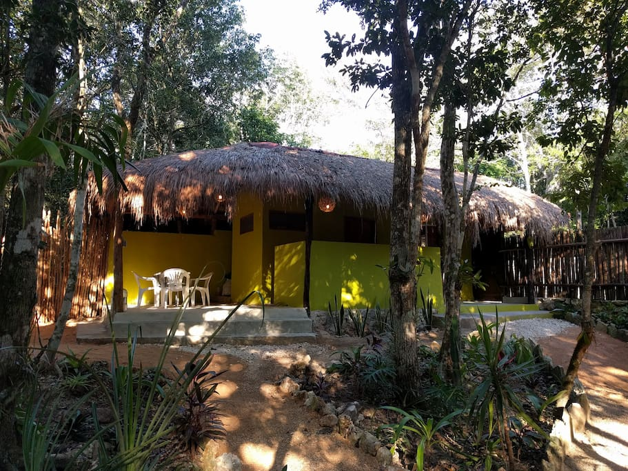 Jungle Bungalow Near Tulum With Pool Bungalows For Rent In Macario G Mez Quintana Roo Mexico