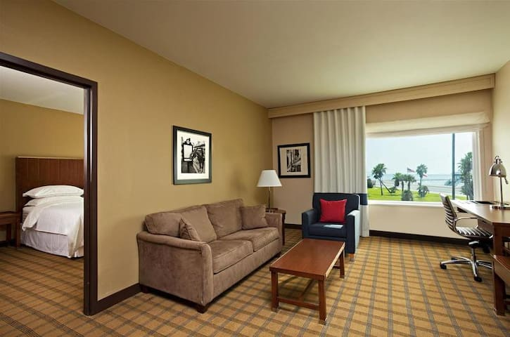Contiguous Double Pool View At Galveston