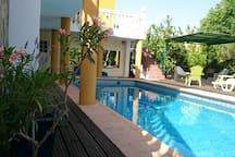 Large Double Terracotta in villa with en suite