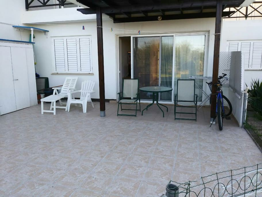 Our new patio outside the appartment.