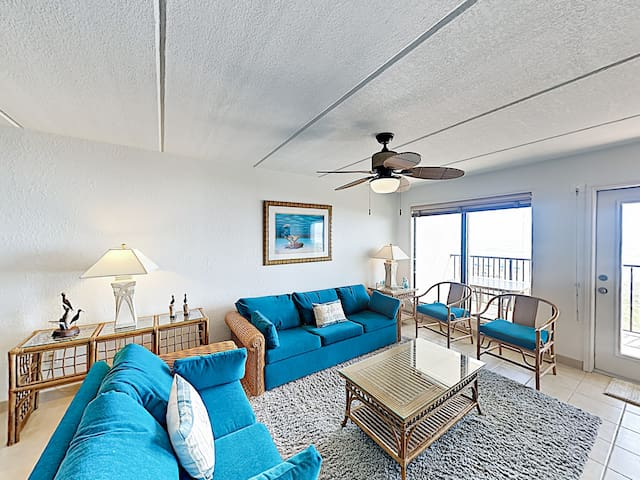 Beach-inspired design elements add to the charm of the living room.