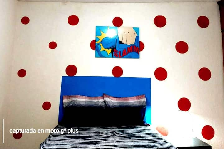 Habitación privada ★Pop-Art★ en colonia cumbres