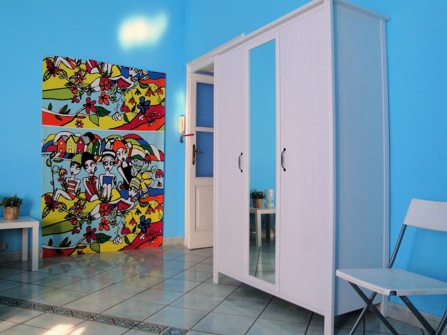 Stanza azzurra Blu room